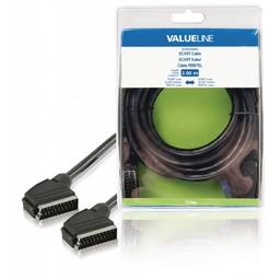 <br />  SCART kabel SCART mannelijk - SCART mannelijk 3,00 m zwart