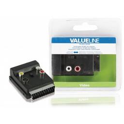 <br />  Schakelbare SCART AV adapter SCART mannelijk - SCART vrouwelijk + 3x RCA vrouwelijk + S-Video vrouwelijk zwart