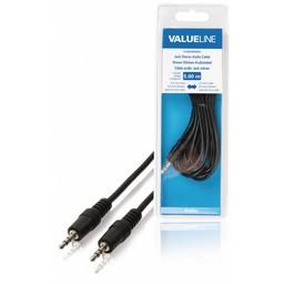 <br />  Jack stereo audiokabel 3,5 mm mannelijk - 3,5 mm mannelijk 5,00 m zwart