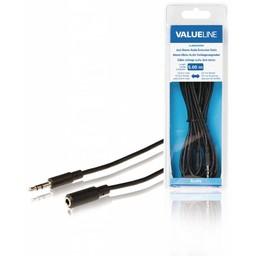<br />  Jack stereo audio verlengkabel 3,5 mm mannelijk - 3,5 mm vrouwelijk 5,00 m zwart