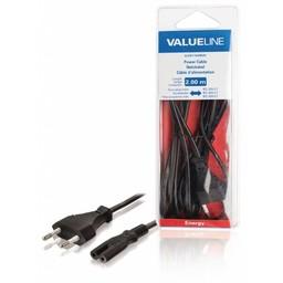 <br />  Stroomkabel Euro-plug mannelijk - IEC-320-C7 2,00 m zwart