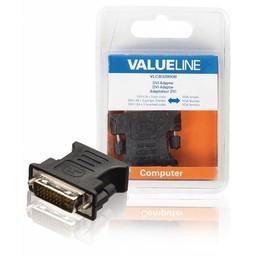 <br />  DVI-adapter DVI-I 24 + 5-pins mannelijk - VGA vrouwelijk zwart