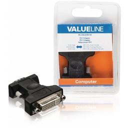 <br />  DVI-adapter VGA mannelijk - DVI-I 24 + 5-pins vrouwelijk zwart