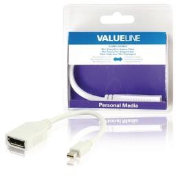 <br />  Mini DisplayPort-adapterkabel Mini-DisplayPort mannelijk - DisplayPort vrouwelijk wit 0,20 m