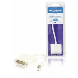 <br />  Mini DisplayPort-adapterkabel Mini-DisplayPort mannelijk - DVI-D 24 + 1-pins vrouwelijk wit 0,20 m