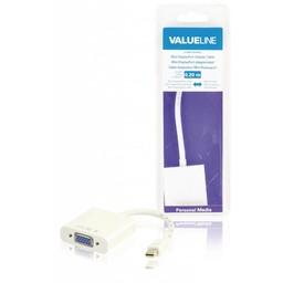 <br />  Mini DisplayPort-adapterkabel Mini-DisplayPort mannelijk - VGA vrouwelijk wit 0,20 m