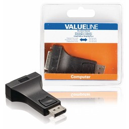 <br />  DisplayPort-adapter DisplayPort male - DVI female zwart