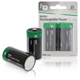 <br />  Oplaadbare NiMH D-batterij 4000 mAh, blister 2 stuks