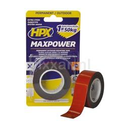 Hpx Max Power Outdoor bevestigingstape - zwart 25mm x 1,5m