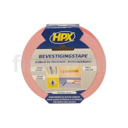 Hpx Spiegel bevestigingstape - wit 19mm x 5m