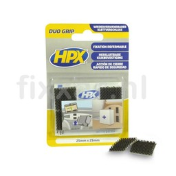 Hpx Duo grip klikbband pads - 25mm x 25mm
