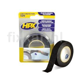 Hpx Kabelbeschermingstape- zwart 19mm x 10m