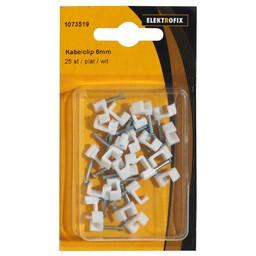 Elektrofix Elektrofix kabelclip 6 mm plat wit 25 st