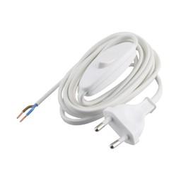 Elektrofix Elektrofix aansluitsnoer met schakelaar wit 2 m