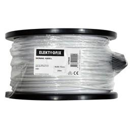 Elektrofix Modulair kabel 4 x 0,15 mm wit prijs per meter