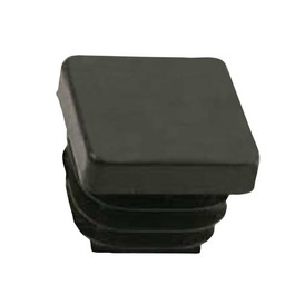 QlinQ QlinQ pootdop insteek vierkant zwart 20 mm 4 stuks