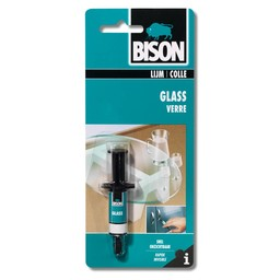 Bison Bison glass glaslijm 2 ml spuit