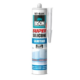 Bison Bison super silicone sanitair wit 310 ml