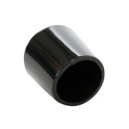 QlinQ QlinQ pootdop omsteek rond zwart 19 mm 4 stuks