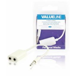 <br />  Jack stereo audiosplitterkabel 3,5 mm mannelijk - 2x 3,5 mm vrouwelijk wit 0,20 m