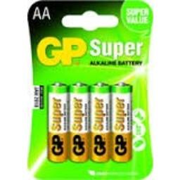 gp GP Super AA Alkaline Penlite Blister 4