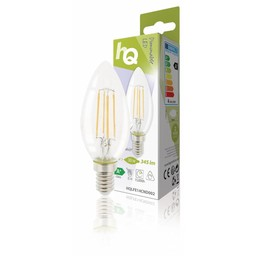 HQ Dimbare retro filament LED-lamp E14 4 watt 330 lumen 2700 kelvin