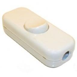 Huismerk Snoerschakelaar   3-polig  10A     wit