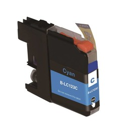 Huismerk Inkt cartridge voor Brother LC 121 LC 123 cyan (met chip)