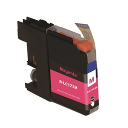 Huismerk Inkt cartridge voor Brother LC 121 LC 123 magenta (met chip)