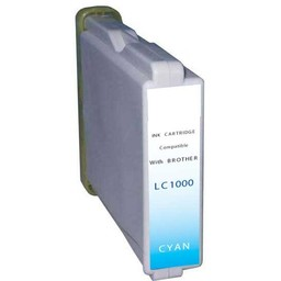 Huismerk Inkt cartridge voor Brother LC 1000 cyan