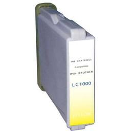 Huismerk Inkt cartridge voor Brother LC 1000 geel