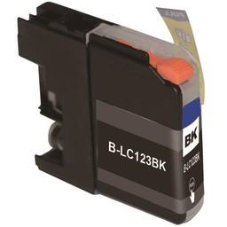 Huismerk inkt cartridge voor Brother LC 121 LC 123 zwart (met chip)