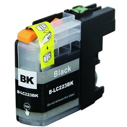 Huismerk Inkt cartridge voor Brother LC 223 zwart (met chip)