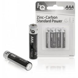 HQ Zink-koolstof AAA-batterij blister 4 stuks