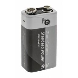 HQ Zink-koolstof 9V-batterij blister 1 stuk