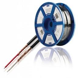Valueline 2x 0,14 mm² audiokabel zwart prijs per meter