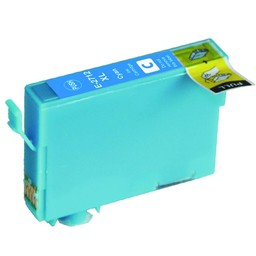 Huismerk Cartridge voor Epson T 2712 Cyan