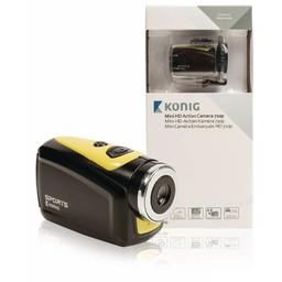 König HD Action Camera Waterdichte Behuizing Geel / Zwart