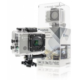 König Full HD Action Camera 1080p Wi-Fi / GPS Zwart