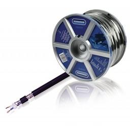 Bandridge Microfoonkabel op Haspel 2x 0.35 mm² 100 m Zwart