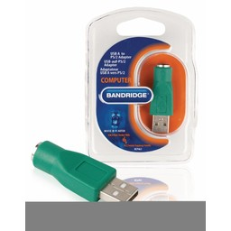 Bandridge USB 2.0 Adapter A Male - PS/2 Female Groen
