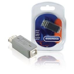 Bandridge USB 2.0 Adapter A Female - B Female Grijs