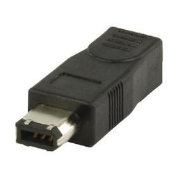 Valueline FireWire 400 Adapter FireWire 6-Pins Male - FireWire 4-Pins Female Zwart