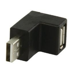 Valueline USB 2.0 Adapter 90° Haaks A Male - A Female Zwart