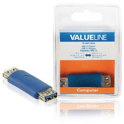 Valueline USB 3.0 Adapter A Female - A Female Blauw