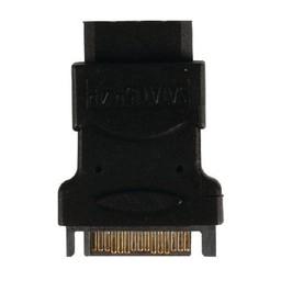 Valueline SATA Adapter SATA 15-Pins Male - Molex Female Zwart