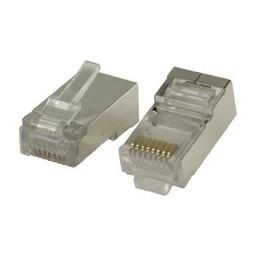Valueline Connector RJ45 Solid STP CAT5 Male PVC Transparant