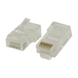 Valueline Connector RJ45 Solid UTP CAT5 Male PVC Transparant