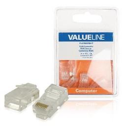 Valueline Connector RJ45 Solid UTP CAT6 Male PVC Transparant