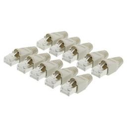 Valueline Connector RJ45 Solid UTP CAT5 Male Transparant / Grijs